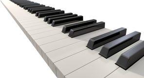 Piano Keys Front Stock Photography