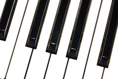 Piano keys great view Royalty Free Stock Images