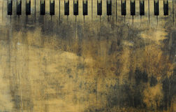 Piano keys grunge background Royalty Free Stock Photos