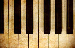 Piano keys in grunge image Stock Photo