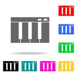 Piano keys icon. Elements of party multi colored icons. Premium quality graphic design icon. Simple icon for websites, web design,. Mobile app, info graphics on Royalty Free Stock Photo