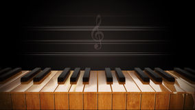 Piano keys. Illustration of Piano keys wood for music background Stock Photos