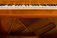 Piano Keys and Inside stock image