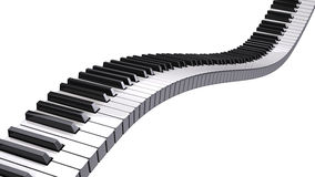 Piano keys. Isolated on white Royalty Free Stock Image