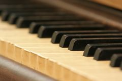 Piano keys and keyboard Stock Image