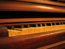 Piano keys and keyboard Royalty Free Stock Images
