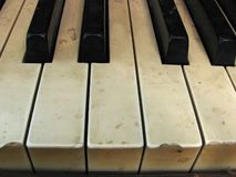 Piano keys and keyboard Royalty Free Stock Photos