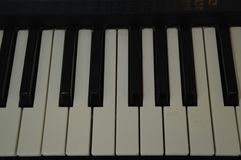Piano keys. Keyboars keyboard music instrument stock image