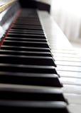 Piano Keys. Light abstract shot of black and white piano keys Royalty Free Stock Image