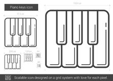 Piano keys line icon. Royalty Free Stock Images