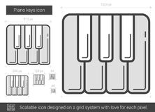 Piano keys line icon. Stock Images
