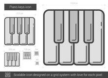 Piano keys line icon. Stock Image