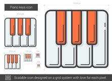 Piano keys line icon. Royalty Free Stock Image