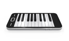 Piano Keys in Mobile Phone Stock Images
