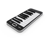 Piano Keys in Mobile Phone Royalty Free Stock Photography