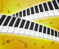 Piano Keys Music Background Texture Stock Images