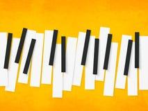 Piano keys for music. Royalty Free Stock Photo