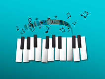 Piano Keys, Music Notes Stock Image