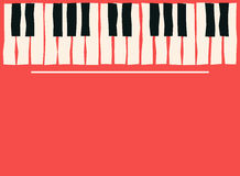 Piano keys. Music poster template. Jazz and blues music concert background. Vector Stock Photo