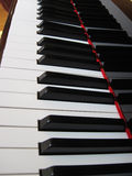 Piano keys, musical background. Stock Photography