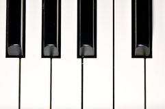 Piano keys. Musical instrument on stage. Stock Photo
