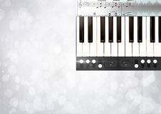 Piano keys with notes and effects App Interface Stock Image