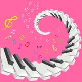 Piano keys and notes Stock Photography