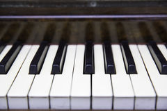 Piano Keys. Keys of a piano octave Stock Image