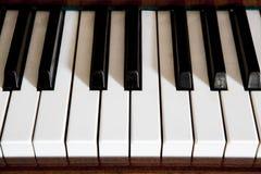 Piano keys. In old piano Royalty Free Stock Photos