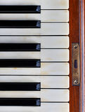 Piano keys of an old German piano Royalty Free Stock Images
