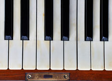 Piano keys of an old piano Royalty Free Stock Image