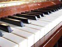 Piano keys one Stock Photography