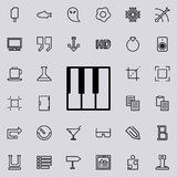 Piano keys outline icon. Detailed set of minimalistic line icons. Premium graphic design. One of the collection icons for websites. Web design, mobile app on Royalty Free Stock Photo