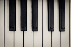 Piano Keys Overhead Royalty Free Stock Image