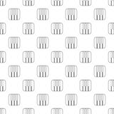 Piano keys pattern vector seamless. Repeating for any web design Royalty Free Stock Image