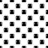 Piano keys pattern vector seamless. Repeating for any web design Stock Photography