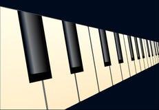 Piano Keys Perspective Royalty Free Stock Photography