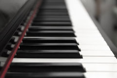 Piano keys perspective Stock Photo
