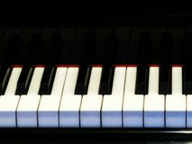 Piano Keys. Piano key closeup stock photos