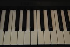 Piano keys. Piano  keys black musix music classic stock photos