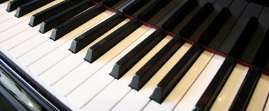 Piano keys reflection Stock Image