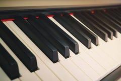 Piano keys. With shallow depth of field Royalty Free Stock Photo