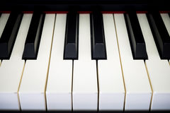 Piano keys. With shallow depth of field Royalty Free Stock Image