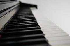 Piano keys side view Stock Photo