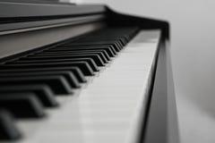 Piano keys side view Stock Photos
