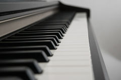 Piano keys side view Royalty Free Stock Photo