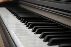 Piano keys side view Stock Photography