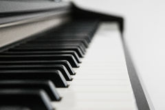 Piano keys side view Stock Images
