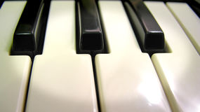 Piano keys with spotlight Stock Photo