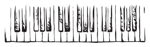 Piano Keys. Vector drawing Royalty Free Stock Images
